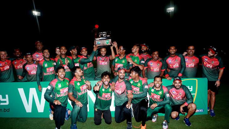 ওয়েস্ট ইন্ডিজের বিপক্ষে টি-টোয়েন্টি সিরিজ জয়ে উচ্ছ্বসিত বাংলাদেশ ক্রিকেট দল