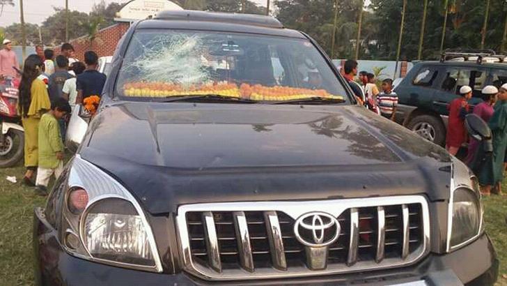 বিএনপি নেতা শাহ মোয়াজ্জেমের গাড়িবহরে হামলা, ভাঙচুর