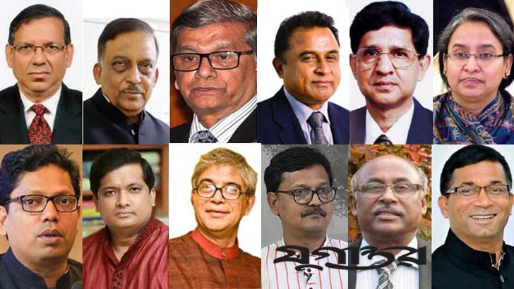 একাদশ জাতীয় সংসদে দায়িত্বপ্রাপ্ত মন্ত্রীদের কয়েকজন। ছবি: যুগান্তর