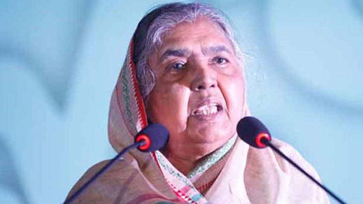 Mother Chowdhury, Awami League rebel candidate winning wine