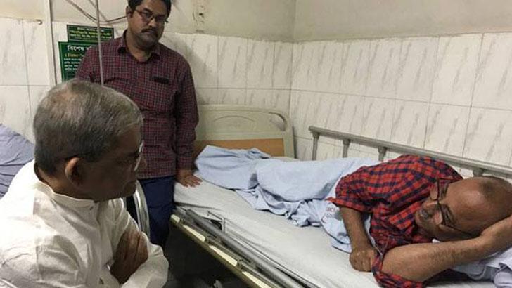 শায়রুল কবিরকে দেখতে হাসপাতালে মির্জা ফখরুল