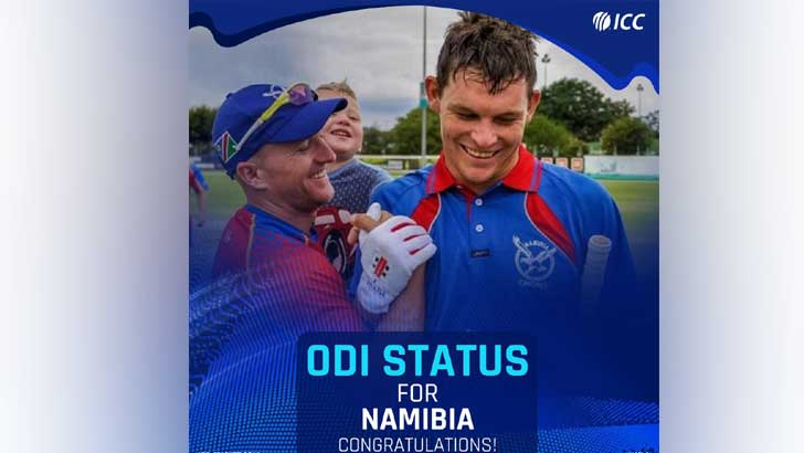 Namibia gained status per day