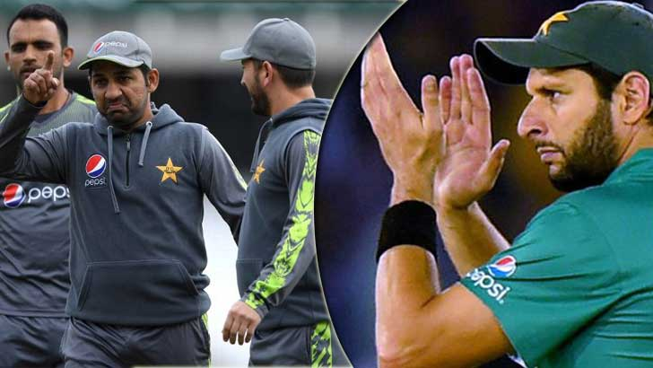 Shahid Afridi impressed with Pakistan's performance in the game against England.