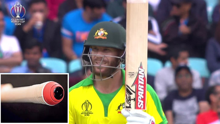 Warner is playing with a digital bat!