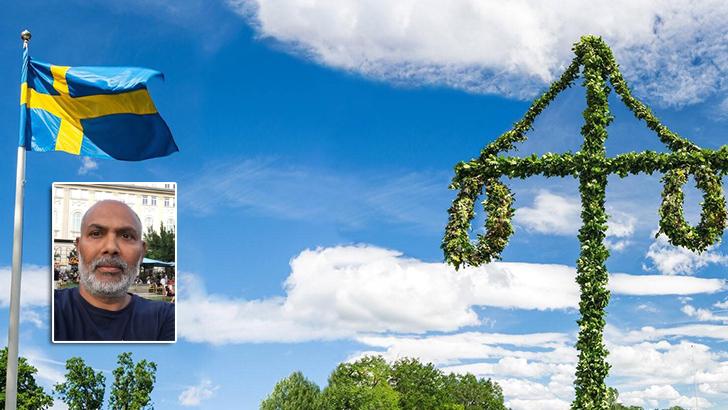 সুইডেনে এ বছর মিডসামার আয়োজনের একটি অংশ। ছবি: লেখক