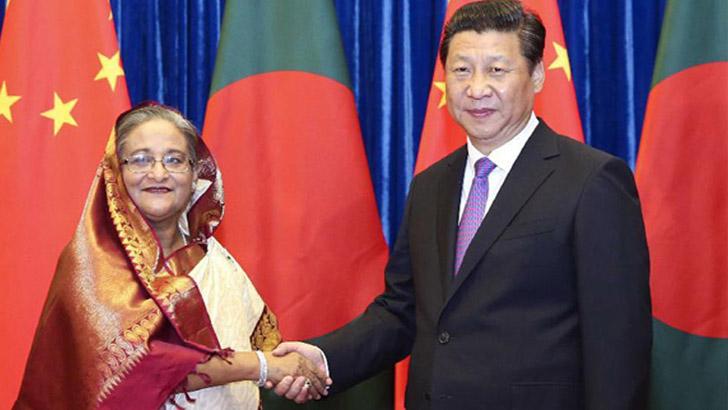 শেখ হাসিনা-শি জিনপিং
