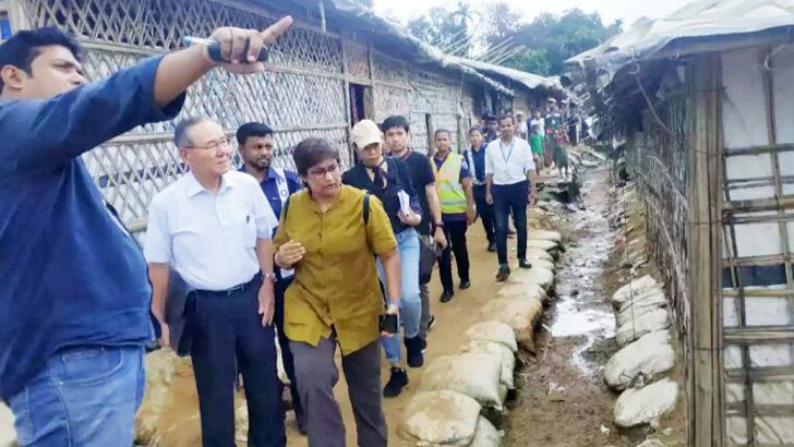 রোহিঙ্গা শিবির পরিদর্শনে মিয়ানমারের তদন্ত দল