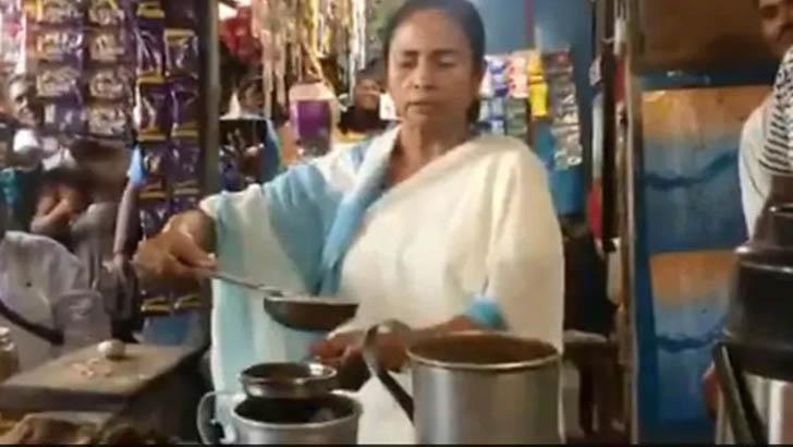 হঠাৎ দোকানে ঢুকে চা বানালেন মমতা, ভিডিও ভাইরাল