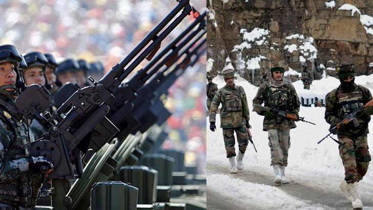 চীন ও ভারতীয় সেনাবাহিনী
