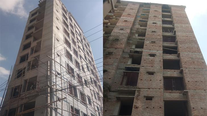পটুয়াখালী পৌর শহরে অনুমোদনবিহীন বহুতল ভবন নির্মাণ