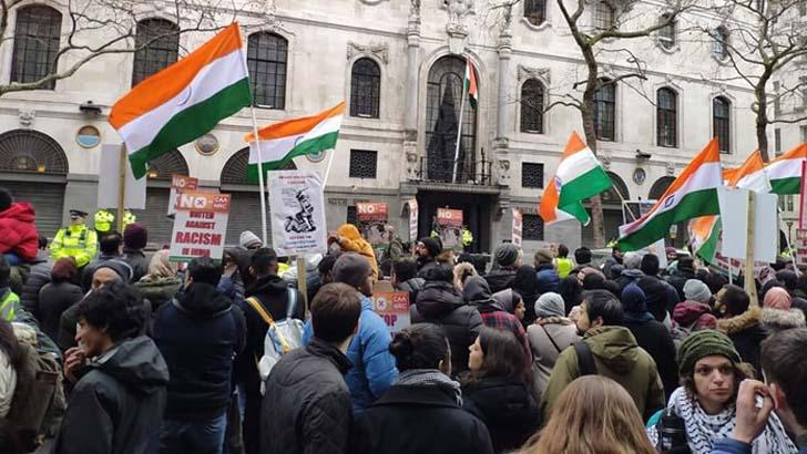 মোদির ফ্যাসিবাদের বিরুদ্ধে লন্ডনে ভারতীয়দের বিক্ষোভ