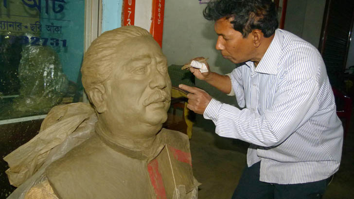 বঙ্গবন্ধুর ভালোবাসায় কালীগঞ্জের সুভাষের শিল্পকর্ম