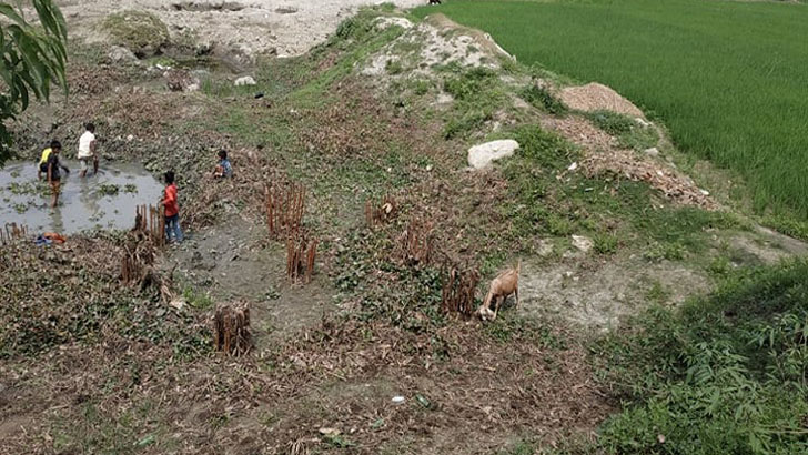 মেঘনায় সেতু নির্মাণে ধীরগতি জনদূর্ভোগে ১১ গ্রামের লোকজন