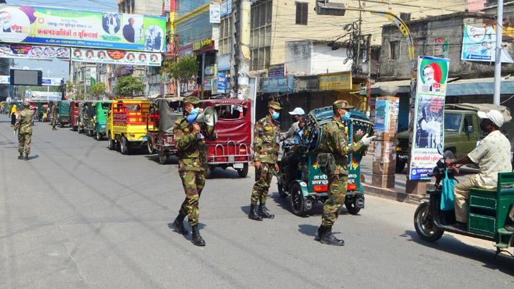 রাজশাহীতে কঠোর সেনাবাহিনী