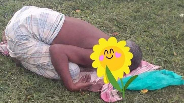 মোহনগঞ্জ হাসপাতালের সামনে পড়ে আছে করোনা উপসর্গ নিয়ে মৃত ব্যক্তির লাশ,