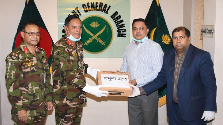 সেনাবাহিনীকে সুরক্ষা সামগ্রী দিল যমুনা গ্রুপ