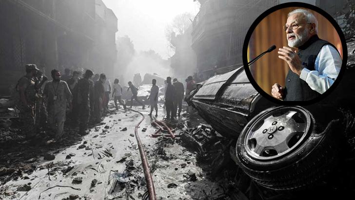 পাকিস্তানে বিমান বিধ্বস্তে হতাহতের ঘটনায় মোদির শোক