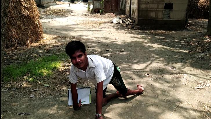 হামাগুঁড়ি দিয়েই স্বপ্ন জয় করল আজহারুল