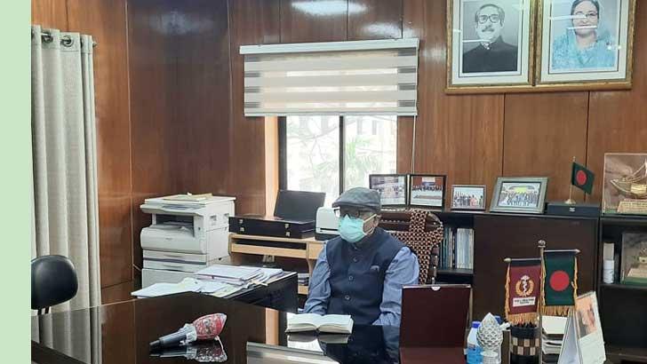 সচিবালয়ে জাহিদ মালেক স্বপন। ছবি: সংগৃহীত