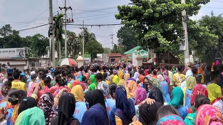 ঢাকা-টাঙ্গাইল মহাসড়কে শ্রমিক বিক্ষোভ, আহত ২০