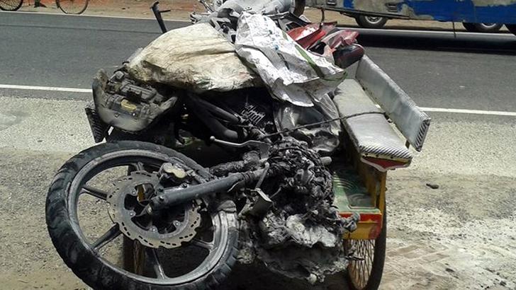 ফেঞ্চুগঞ্জে বাসচাপায় মোটরসাইকেল আরোহী নিহত