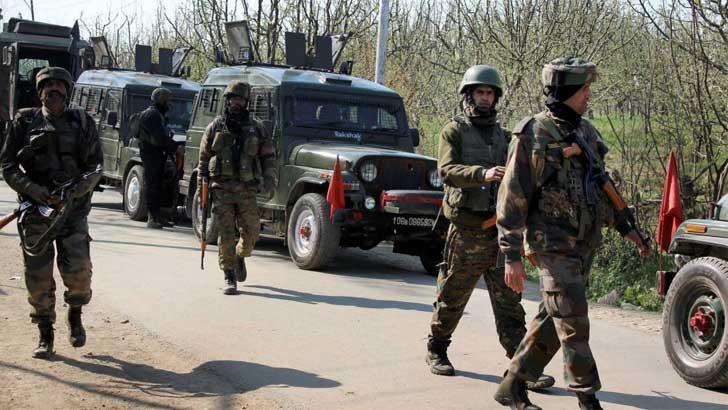 কাশ্মীরে ভারতীয় নিরাপত্তা বাহিনী