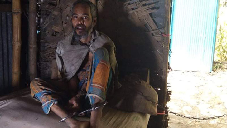 ১৫ বছর ধরে শিকলবন্দি দাগনভূঞার শাহজালাল