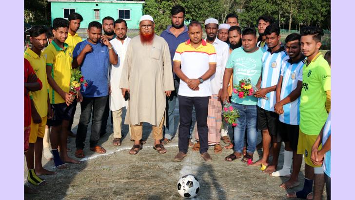 কুমিল্লায় মাদকের বিরুদ্ধে ফুটবল