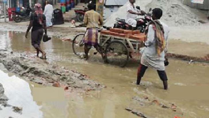 শেরপুরে বটতলা-গোপালবাড়ী সড়ক বেহাল