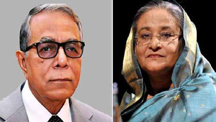 রাষ্ট্রপতি মো. আবদুল হামিদ ও প্রধানমন্ত্রী শেখ হাসিনা