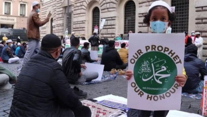 মহানবীকে অবমাননা: ইতালিতে প্রকাশ্যে আজান দিয়ে প্রতিবাদ