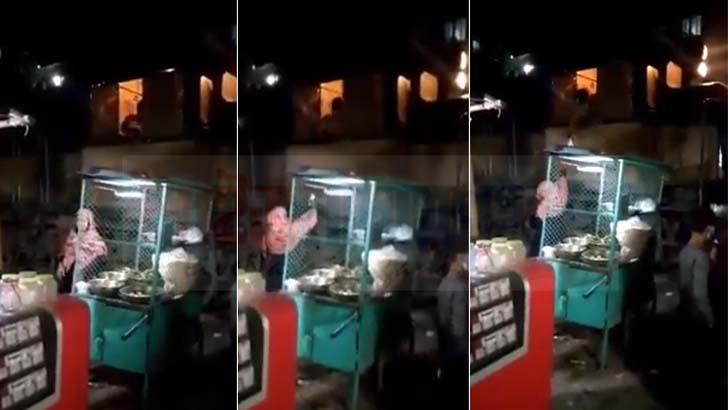 চলন্ত ট্রেন থামিয়ে ঝালমুড়ি কিনল চালক! (ভিডিওসহ)