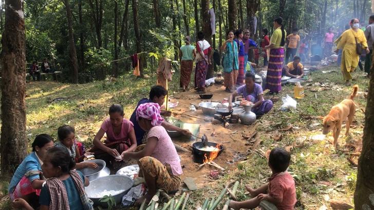 পাহাড়ি পল্লীতে রঙ ছড়াল নবান্ন উৎসব