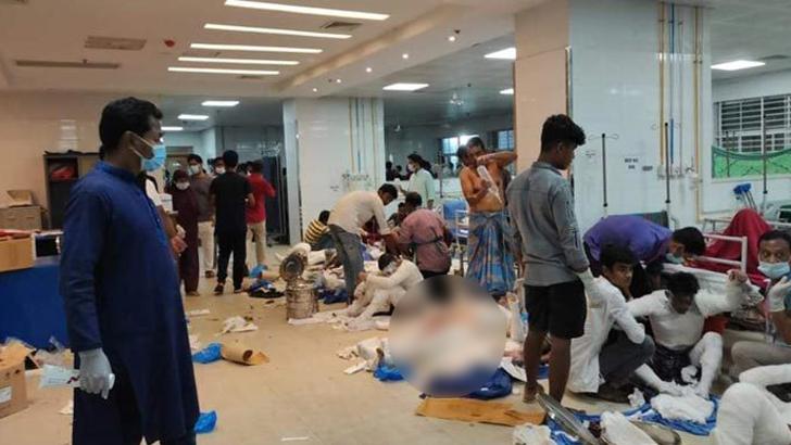 নারায়ণগঞ্জে মসজিদে বিস্ফোরণে আহতরা হাসপাতালে