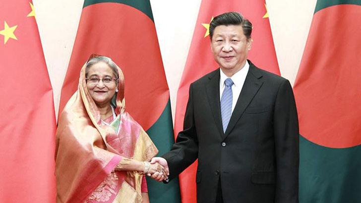শেখ হাসিনা ও শি জিন পিং