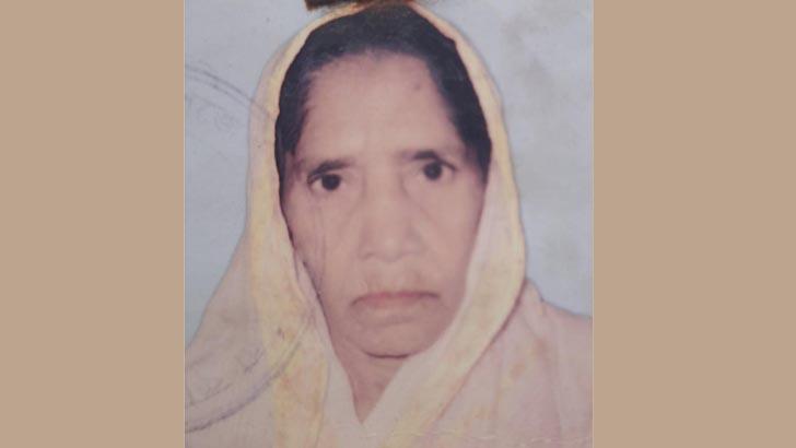 বাহাদুরপুর গ্রামের অশীতিপর হাচেন ভানু (৮৩)