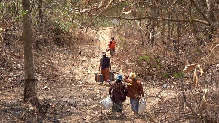 মিয়ানমারে সেনা অভ্যুত্থানের পর দেশটির নাগরিকরা আশ্রয় নিচ্ছে ভারতে। ছবি: বিবিসি