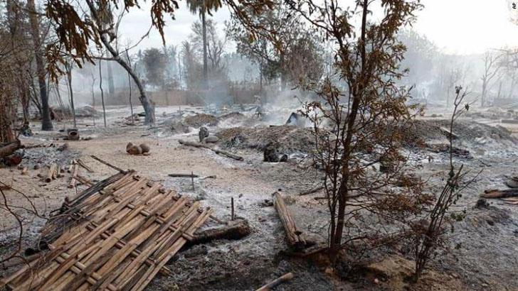মিয়ানমারে একটি গ্রাম জ্বালিয়ে দেওয়ার অভিযোগ সেনাবাহিনীর বিরুদ্ধে