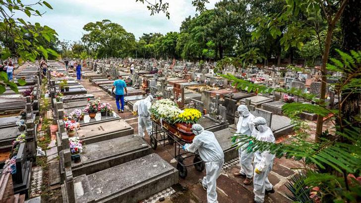করোনায় একদিনে সর্বোচ্চ মৃত্যু ব্রাজিলে