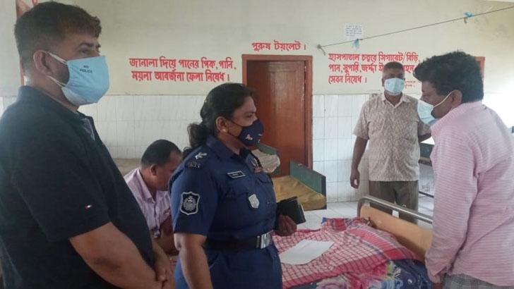 আহতদের দেখতে হাসপাতালে নৌ পুলিশ এসপি চম্পা ইয়ামিন