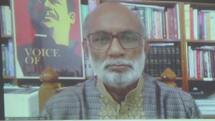 মৎস্য ও প্রাণিসম্পদমন্ত্রী শ ম রেজাউল করিম