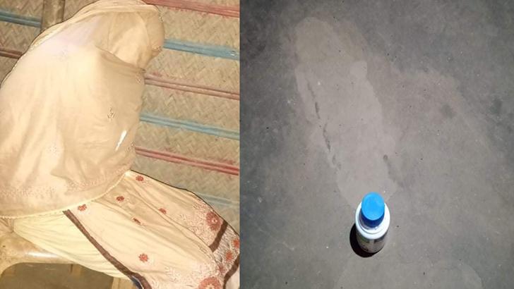 বিষের বোতল-ছুরি নিয়ে অবস্থান মাদ্রাসাছাত্রীর